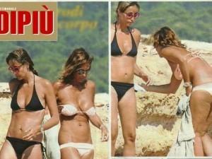 Cristina e Benedetta Parodi a Formentera: sfida tra sorelle a colpi di bikini